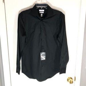 NWT Calvin Klein Men's Black Buttons Shirt